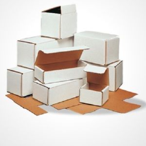 New-Set of 24 Small White Shipping Boxes